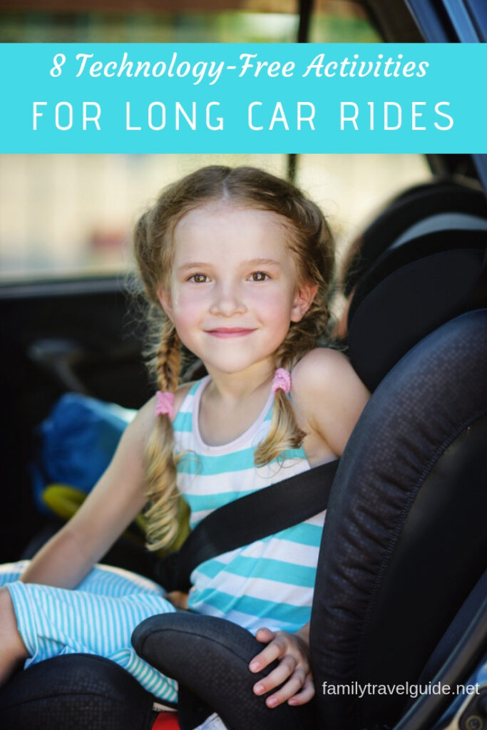 8 technology-free activities to keep kids entertained on long car rides. #roadtrip #familytravel
